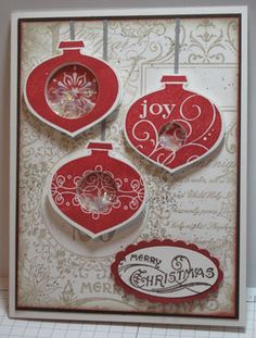 Christmas Collage Shaker Card