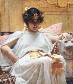 Cleopatra by John William Waterhouse. 1888