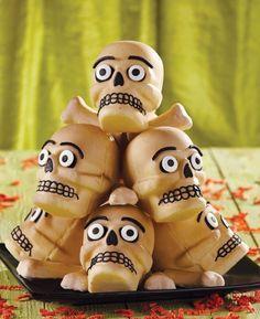 halloween mini, food recipes, scari treat, treats, halloween party foods, halloween food, skull cake, mini cakes, mini skull