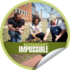 Michelle Obama puts Robert Irvine to work, tonight on Restaurant: Impossible.  Tune-in at 10p|9c.