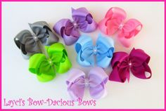 layci bowdaci, solid color, hair bows, bowdaci bow, color boutiqu