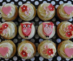 Pretty Owl Cupcakes