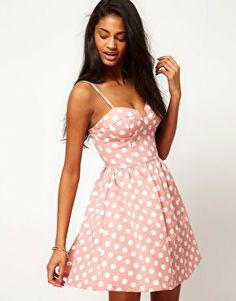 dot dress, polka dots, dress outfits, spot bustier, rare spot, inspired outfits, skater dresses, pink polka, bustier skater