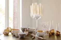 Gold Dipped Glassware