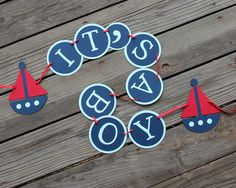 IT'S A BOY Nautical Sailboat Baby Shower Banner ~Custom Colors available~ by SimpleSensations, $20.00