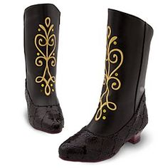 Disney Anna Boots for Girls - Frozen | Disney StoreAnna Boots for Girls - Frozen - Black sequins will add a sparkle to her step wherever she goes in these Anna Boots. The faux leather uppers are lined to keep her feet warm in an eternal winter as she lets her roleplay imagination step into the Frozen world.