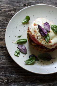 Interesting veggie burger ingredients--kale and chickpeas among others. (Basil, Garlic, & Tomato Veggie Burgers)