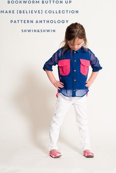 Shwin&Shwin: Bookworm Button Up    How to Sew with Chiffon