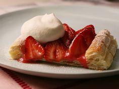 Strawberry-Rhubarb Tart Recipe : Food Network Kitchen : Food Network - FoodNetwork.com