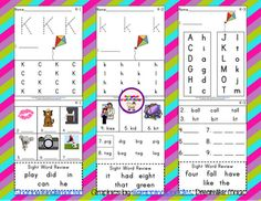 Kk phonics sheets- FREE