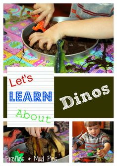Let's Learn About Dinos . . . a fun activity featuring coffee, dinos and playdough!