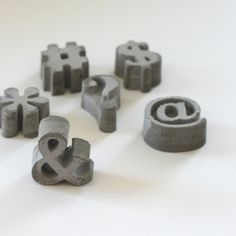 concrete symbols - 645workshop on etsy