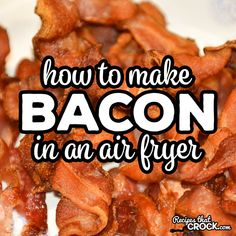 Are you wondering how to make bacon in an Air Fryer? We use a lot of bacon in our low carb recipes and our favorite way to quickly make crispy bacon is in the air fryer.