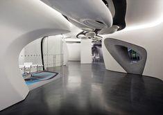 Futuristic Architecture, Roca London Gallery by Zaha Hadid Architects, Futuristic Interior Design