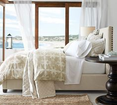 Dress your bed with dreamy neutrals.