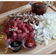 Lightened-up Slow Cooker Beef Stroganoff