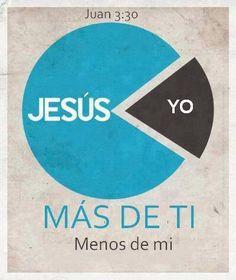 JESÚS MÁS DE TI MENOS DE TI. #Dios #palabras #vida #amor #Biblia