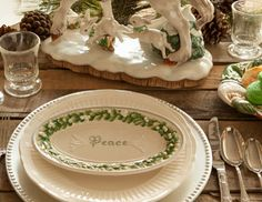 I pinned this from the Winter Table - Festive Tabletop in Rich Hues of Gold, Green & Silver event at Joss and Main!
