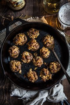 Sausage Stuffed Mushrooms #CaptainsTable by Jelly Toast