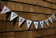 Nautical Sailboat Baby Shower Banner by TigerLilyInvitations, $12.00