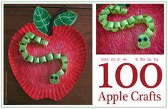 apples crafts, apples preschool activities, 100 appl, thrifti scissor, appl craft, apple crafts