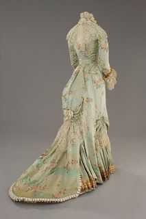Countess Olenska's Blue Silk Gown from The Age of Innocence, designed by Gabriella Pescucci