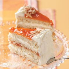 Apricot Almond Torte Recipe from Taste of Home