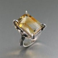 21.5 ct Checkboard Cut Citrine Sterling Silver Cocktail Ring. Sheer style   http://www.johnsbrana.com/21-5-ct-checkboard-cut-citrine-sterling-silver-cocktail-ring.html  $495.00