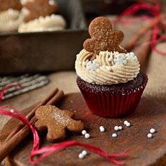 Gingerbread Cupcakes by @Cheryl Tidymom