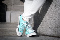 mint converse shoes | WhatsTrend Blog » White Outfit