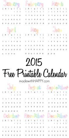 Free Printable 2015