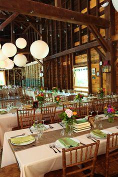 Barn Wedding table layout