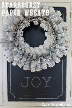 Starburst paper wreath