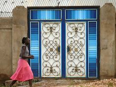 Juba, South Sudan....amongst all the poverty - these doors