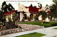 """The famous old Casa Verdugo restaurant in 1910, """"out Glendale Way.""""  Today it's just a house, albeit a charming house on an innocuous street in the innocuous L.A. bedroom community of Glendale. These days, passersby might not even give it a second glance, but in the first years of the 20th Century this little house was one of the most famous restaurants in the West, a mecca for visitors from around the world - It was the renowned Casa Verdugo, an eatery par excellence from days long since past."""