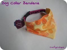 Tutorial: Slide On Dog Collar Bandana