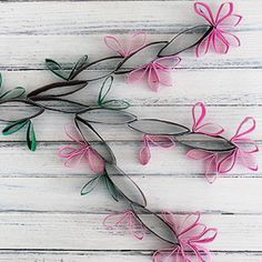 Beyond Easy Cherry Blossoms - made from toilet paper rolls!