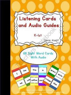 Listening Cards and Audio Guide: Sight Words K-1 from JamieKraft on TeachersNotebook.com -  (20 pages)  - Check out my blog about Listening Cards and Audio Guides here: http://jamiekraft.blogspot.com/2014/09/listening-cards-and-audio-guides.html
