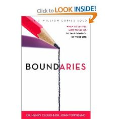 Boundaries by Cloud & Townsend. Big Boy and I both need to read this.