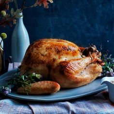 Rosemary Butter-Rubbed Turkey with Porcini Gravy | CookingLight.com