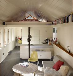 Love this garage conversion with sleeping quarters.