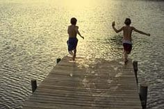 This looks like the perfect ending to a perfect summer day...hope the water isn't too cold! #indigo #perfectsummer