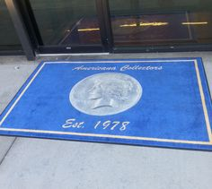 Custom Logo Rug for an Entrance to a Coin Store