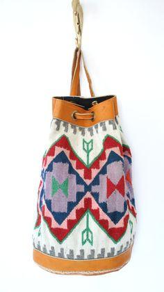 vintage southwestern backpack