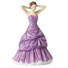 Purple Lady Figurines