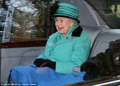 dailymail:  Queen Elizabeth attended church at St. Mary Magdalene's, Sandringham, January 12, 2014.