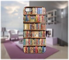 Bookshelf Original Case for iPhone 5/4 Samsung Galaxy S2/S3/S4 Blackberry Q/Z - PDA Accessories