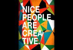 Nice People Are Creative  Artwork