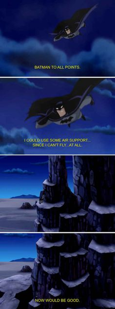 Batman knows his weaknesses. | 22 Times The Justice League Proved Their Superpower Is Sass