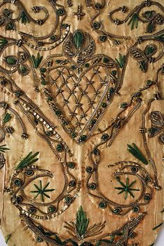 Stomacher Detail, German, late 18th c. The Met